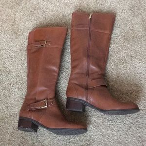 Tall, brown Bandolino leather boots - size 8M